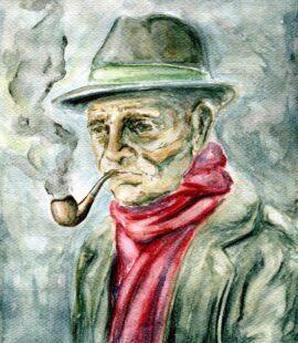 Old man smoking his pipe – Nooraeve 94_